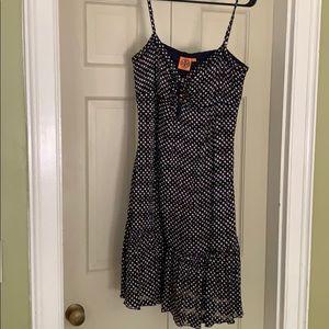 Tory Burch polka dot midi sun dress, size 14